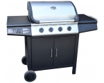 "Fireplus gas grill ""Vision 4"", 4 burner gas BBQ with side burner"