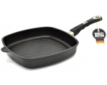 Grill pan 4-square 28x28cm, 5cm edge, for induction hob