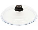 Glass lid with ventilated button Ø32cm