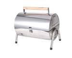 Portable charcoal grill, stainless steel